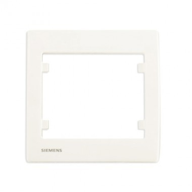 SIEMENS Delta Iris Plaque simple - Blanc