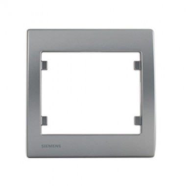 SIEMENS Delta Iris Plaque simple silver