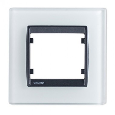 SIEMENS Delta Iris Plaque simple en verre blanc