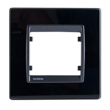 SIEMENS Delta Iris Plaque simple en verre noir