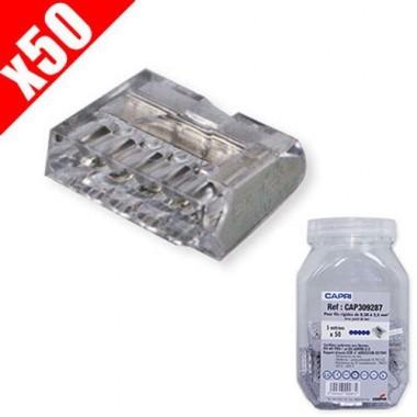 CAPRI 50 bornes automatiques connexion rapide 5 entrées 5x2.5² gris