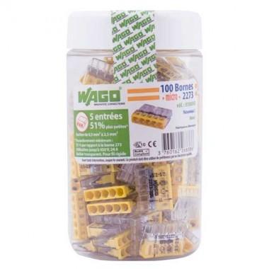 WAGO Pot de 100 mini-bornes de connexion 5 fils S2273