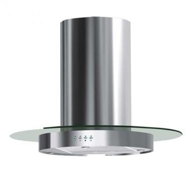 DMO Hotte décorative de cuisine centrale ronde 90cm 700m³/h inox