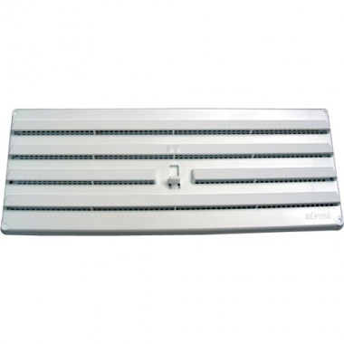 DMO S Grille d'aération PVC réglable en applique àmoustiquaire