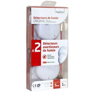 ANGELEYE Lot de 2 détecteurs avertisseurs autonomes de fumée - garantie 5 ans