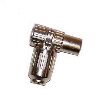 Fiche femelle métallique 9,52 mm coudée 90°