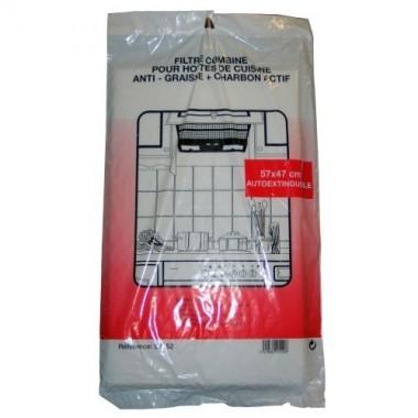 Lot de 2 filtres charbon noir anti odeur pour hotte de - Filtre pour hotte de cuisine ...