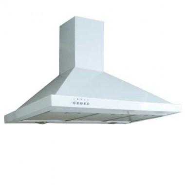 DMO Hotte décorative cheminée de cuisine 90 cm 700m³/h blanc