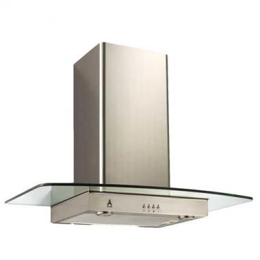 DMO Hotte décorative de cuisine en verre 90 cm 700m³/h inox