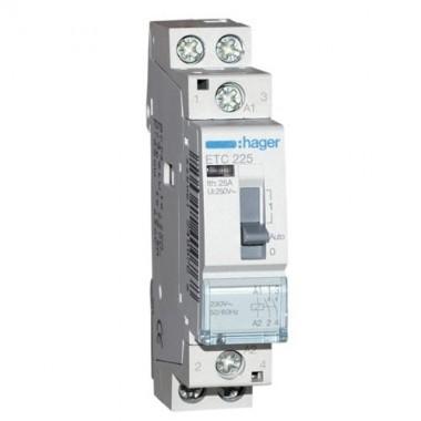 Contacteur de puissance jour nuit hager 25a 2f monophas etc225 - Contacteur chauffe eau legrand ...