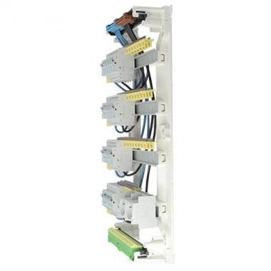 HAGER Gamma Tableau électrique prééquipé 2ID 40A 2ID 63A 14 disjoncteurs  4 rangées
