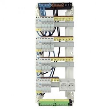 HAGER Gamma Tableau électrique prééquipé 4 rangées  14 disjoncteurs 2ID 40A 2ID 63A