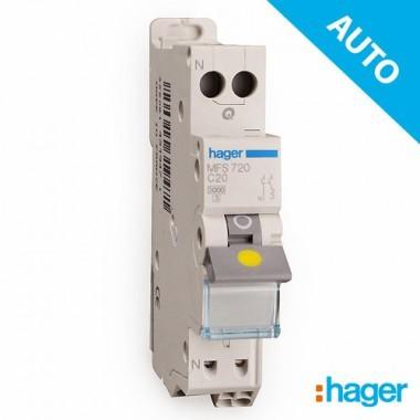 HAGER Disjoncteur AUTO Phase Neutre 20A