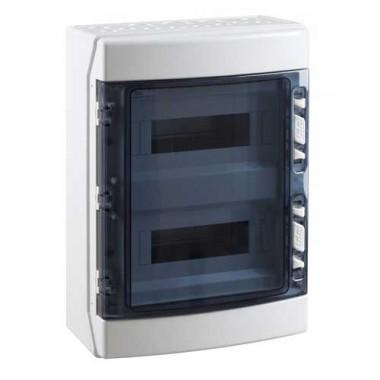 IDE Tableau électrique étanche 2 rangées de 12 modules