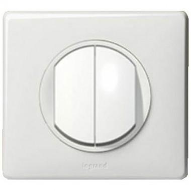 interrupteur double va et vient legrand c liane complet. Black Bedroom Furniture Sets. Home Design Ideas