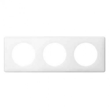 LEGRAND Céliane Plaque Memories 3 postes Yesterday Blanc - 066633