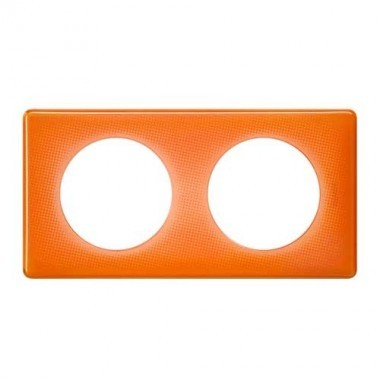 LEGRAND Céliane Plaque Memories 2 postes 70's orange - 066652