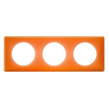 LEGRAND Céliane Plaque Memories 3 postes 70's orange - 066653