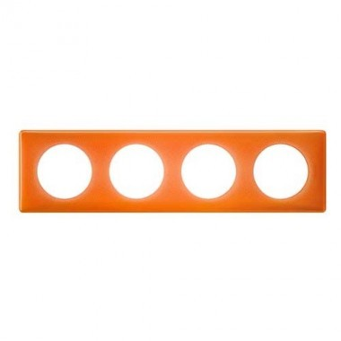 LEGRAND Céliane Plaque Memories 4 postes 70's orange - 066654