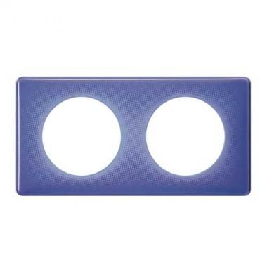 LEGRAND Céliane Plaque Memories 2 postes 90's violet - 066662