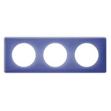 LEGRAND Céliane Plaque Memories 3 postes 90's violet - 066663