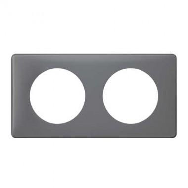 plaque poudr legrand c liane double schiste 066732. Black Bedroom Furniture Sets. Home Design Ideas