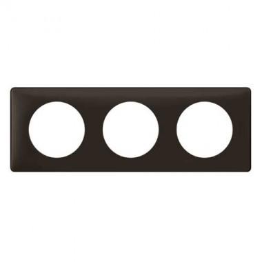 legrand c liane plaque poudr 3 postes basalte 066743. Black Bedroom Furniture Sets. Home Design Ideas