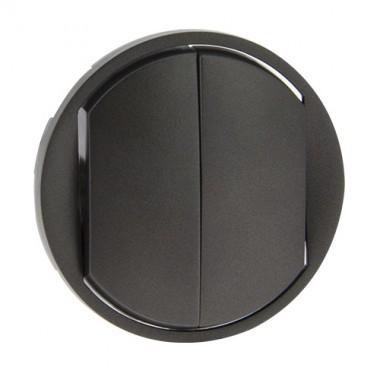 LEGRAND Céliane Enjoliveur graphite double va et vient / poussoir doigt large - 067902
