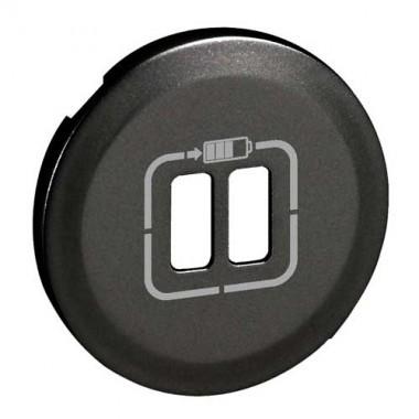 legrand c liane enjoliveur graphite prise double chargeur usb 067956. Black Bedroom Furniture Sets. Home Design Ideas