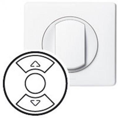 LEGRAND Céliane Enjoliveur blanc interrupteur volets roulants / stores - 2