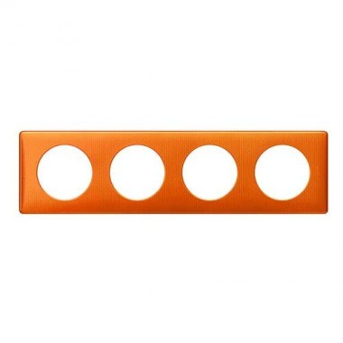 LEGRAND Céliane Plaque Métal 4 postes Orange snake - 068764