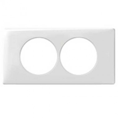 LEGRAND Céliane Plaque Memories 2 postes Yesterday Blanc Entraxe 57 - 068808