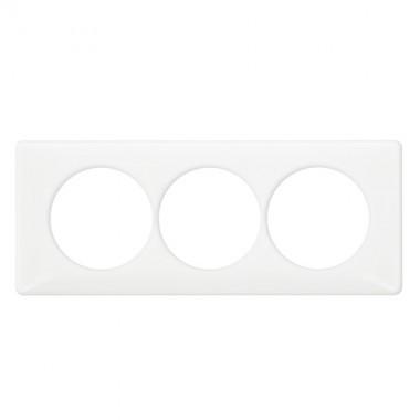 LEGRAND Céliane Plaque Memories 3 postes Yesterday Blanc Entraxe 57 - 068809