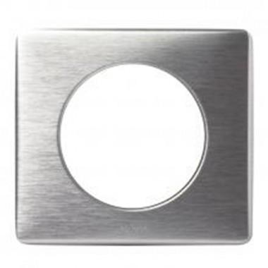plaque m tal anodis legrand c liane simple aluminium. Black Bedroom Furniture Sets. Home Design Ideas