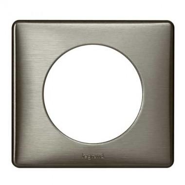 legrand c liane plaque m tal 1 poste tungst ne 068971. Black Bedroom Furniture Sets. Home Design Ideas