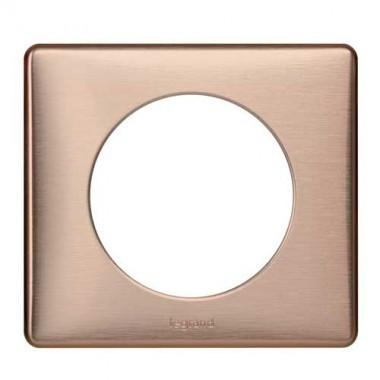 plaque m tal legrand c liane simple copper 068991. Black Bedroom Furniture Sets. Home Design Ideas