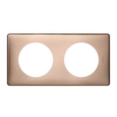 LEGRAND Céliane Plaque Métal 2 postes Copper - 068992