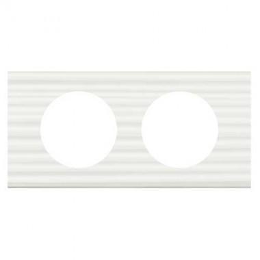 legrand c liane plaque mati res 2 postes corian cannel 069012. Black Bedroom Furniture Sets. Home Design Ideas