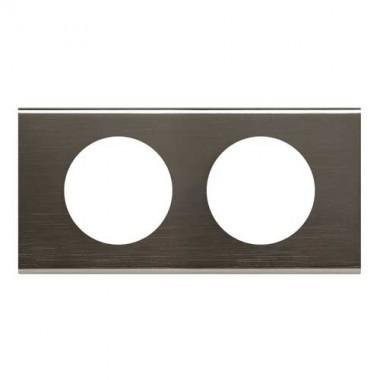 LEGRAND Céliane Plaque Matières 2 postes Black nickel - 069032