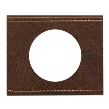 LEGRAND Céliane Plaque Matières 1 poste Verre cuir brun - 069401