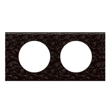 LEGRAND Céliane Plaque Matières 2 postes Cuir pixel - 069452