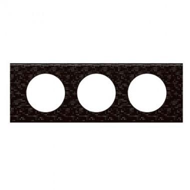 LEGRAND Céliane Plaque Matières 3 postes Cuir pixel - 069453