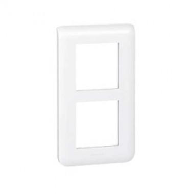 LEGRAND Mosaic Plaque double verticale E57 blanche - 078854