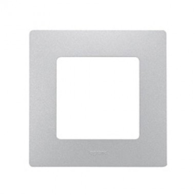 LEGRAND Niloé Plaque simple 1 poste Argent - 096705