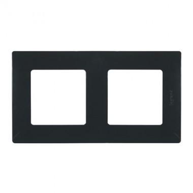 LEGRAND Niloé Plaque double 2 postes Onyx - 096711