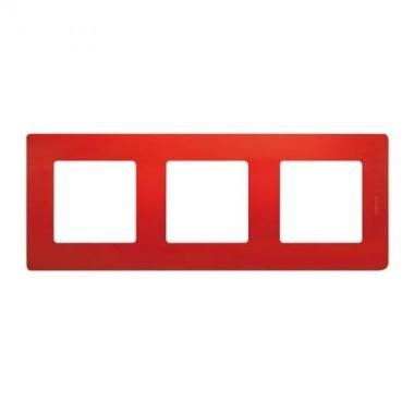 LEGRAND Niloé Plaque triple 3 postes Coquelicot - 096722