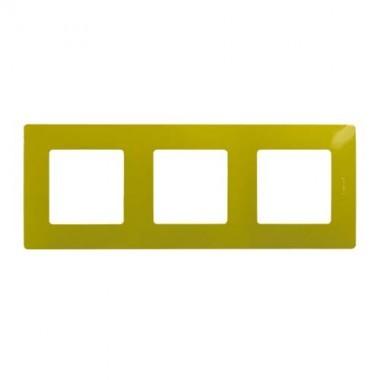 LEGRAND Niloé Plaque triple 3 postes Fougère - 096723