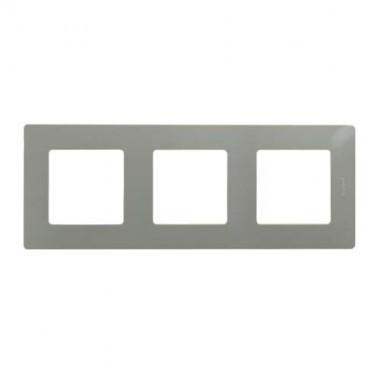 LEGRAND Niloé Plaque triple 3 postes Galet - 096724