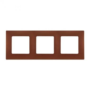 LEGRAND Niloé Plaque double 3 postes Cacao - 096728