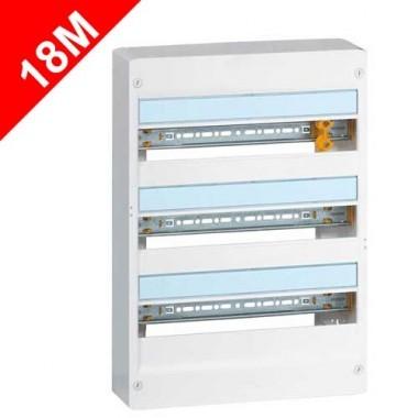 LEGRAND Drivia Tableau électrique 18 modules nu 3 rangées